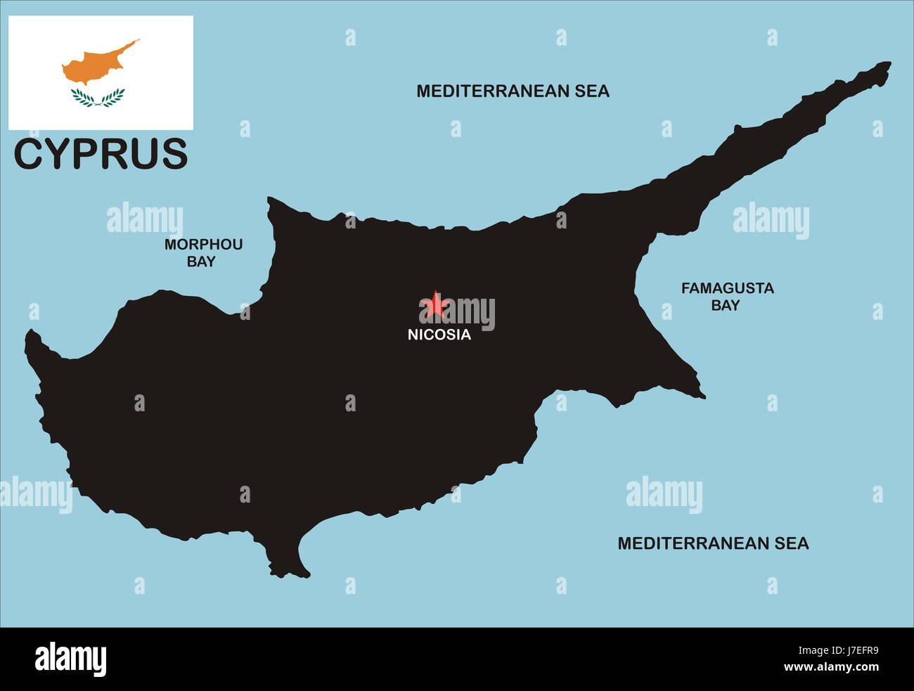 Chypre Atlas Des Cartes Carte Du Monde Illustration Politique Pays Drapeau Chypre Photo Stock Alamy