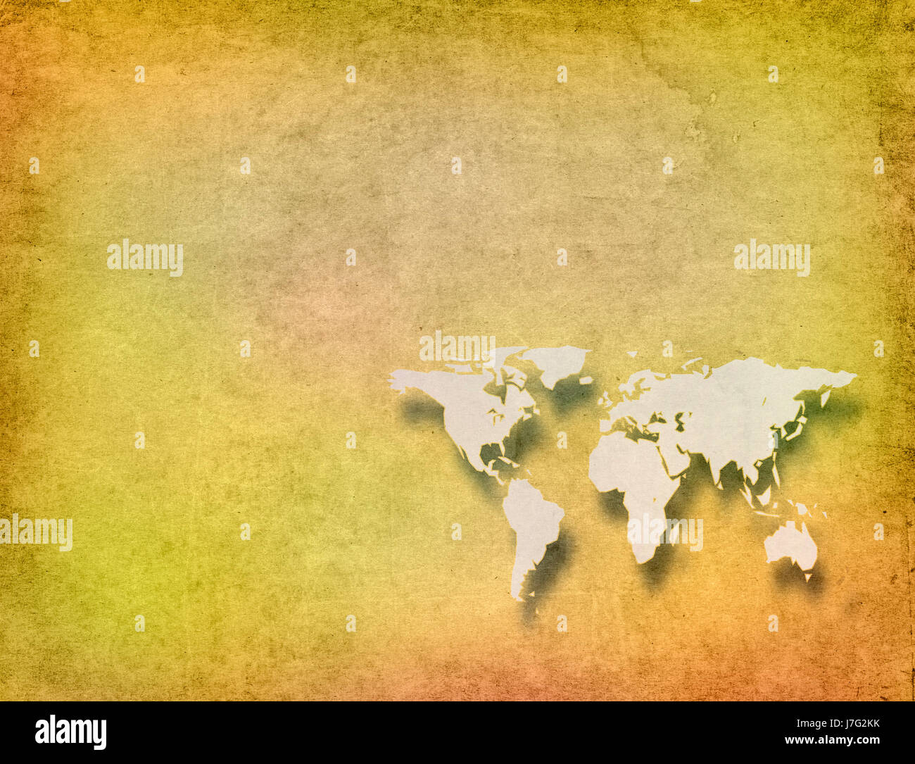 Carte Du Monde Parchemin carte du monde sur de vieux papier parchemin banque d'images, photo