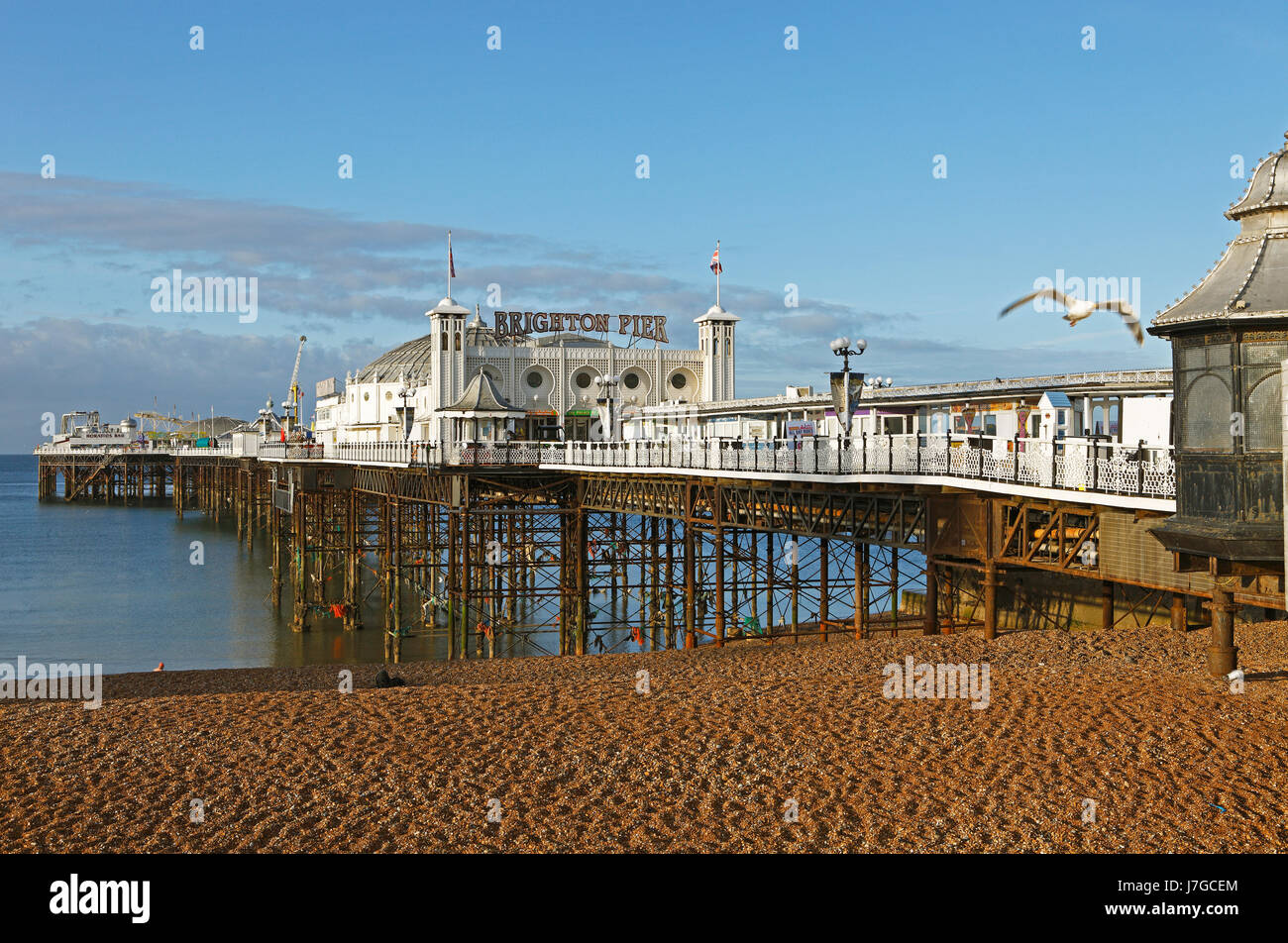 Palace Pier de Brighton, Brighton, East Sussex, Angleterre, Royaume-Uni Banque D'Images