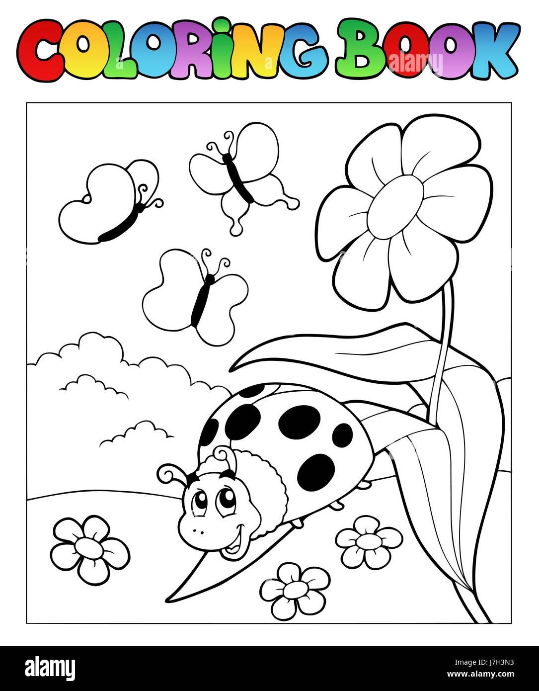 Peinture Couleur Beetle Coccinelle Coccinelle Peint Coloriage Livre