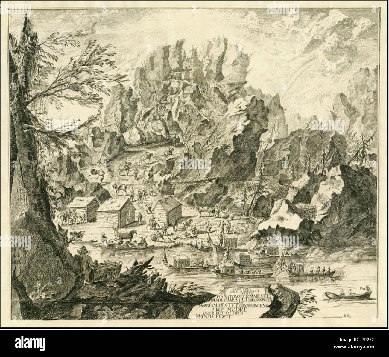 Anno 1733 den 9 Augusti reiste sur ce domaine Commandes Eidet Photo Stock
