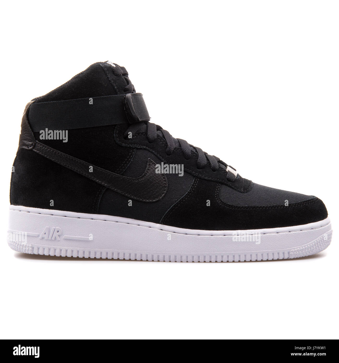 Black High Top Nike Sneakers Trainers Banque d'image et