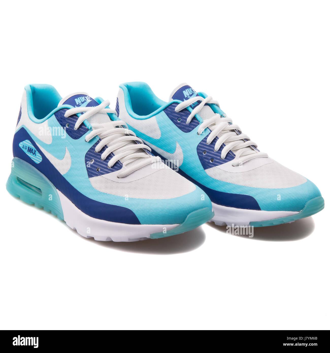 huge discount 99e7d 02f1c Nike Air Max 90 W BR Ultra Deep bleu royal, turquoise et blanc Women s  Running
