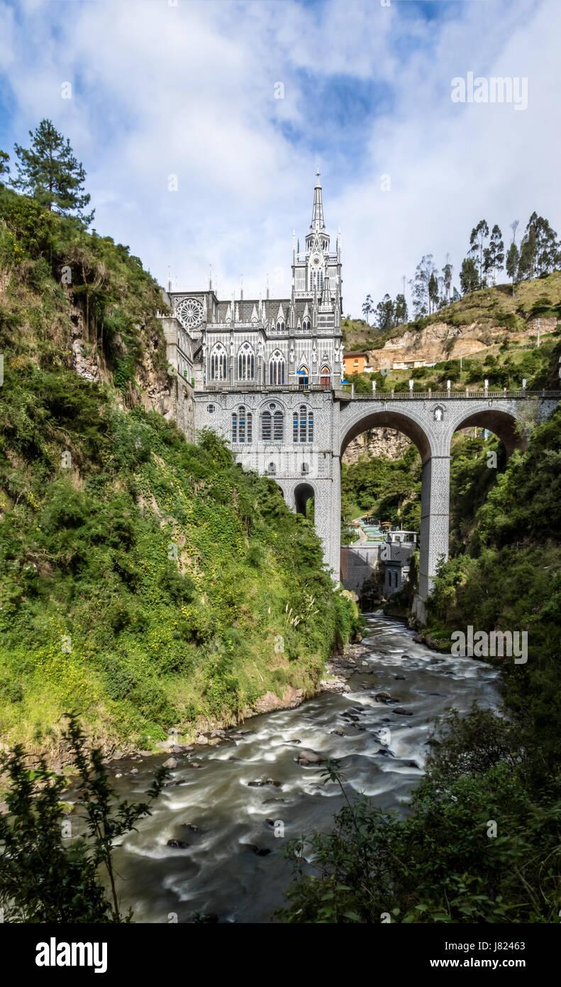 Sanctuaire de Las Lajas - Ipiales, Colombie Photo Stock