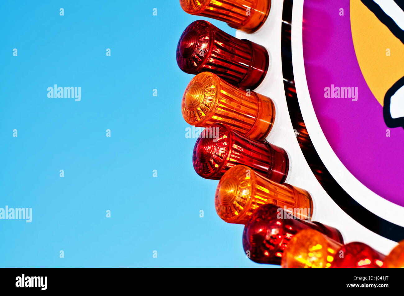 Carnaval juste parc d'honorables décent d'éclairage de l'éclairage rouge Photo Stock