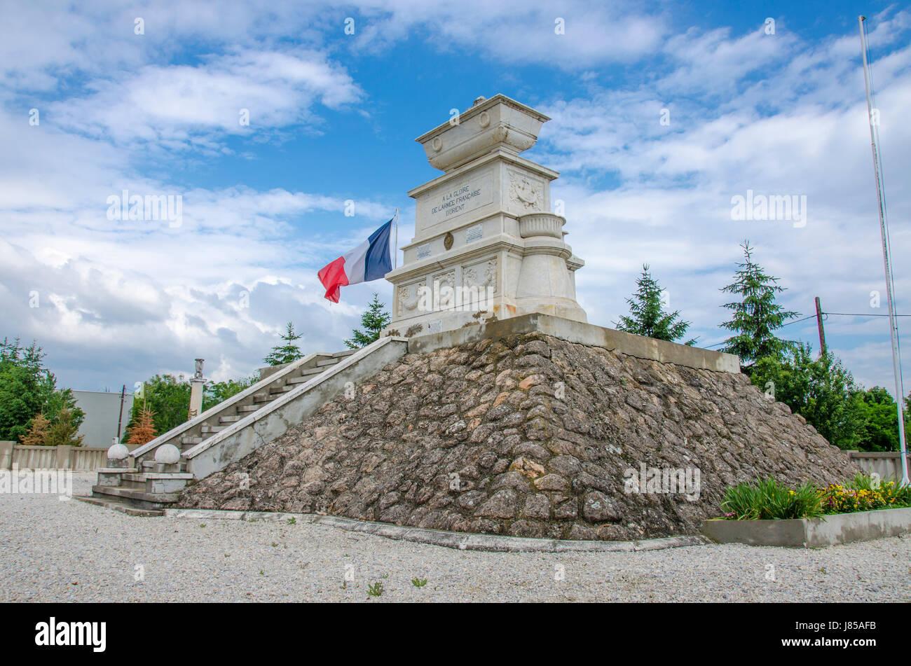 Cimetière militaire français à Bitola - Cimetière Militaire Français Photo Stock