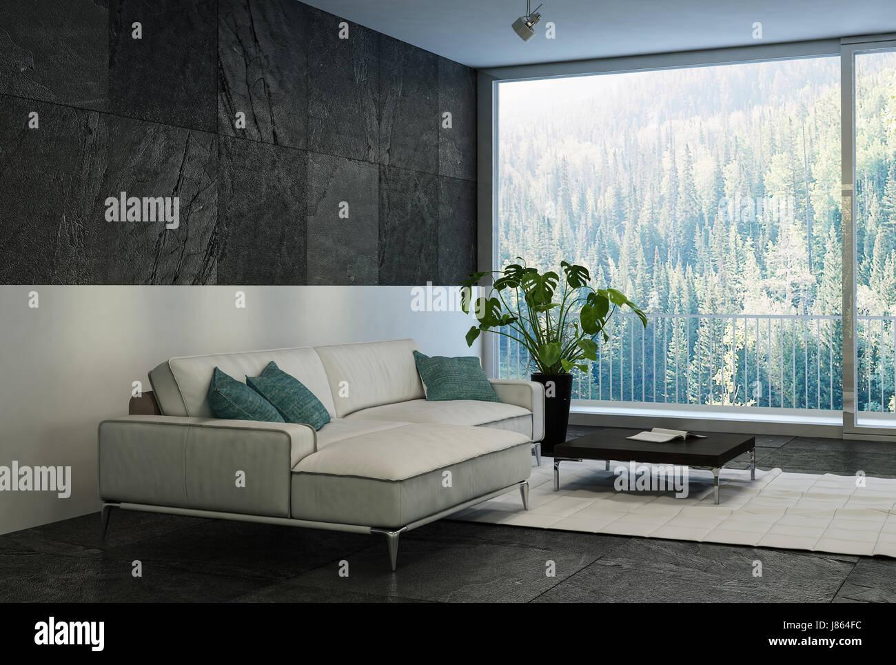 Cette chambre moderne et confortable salon moderne avec une ...