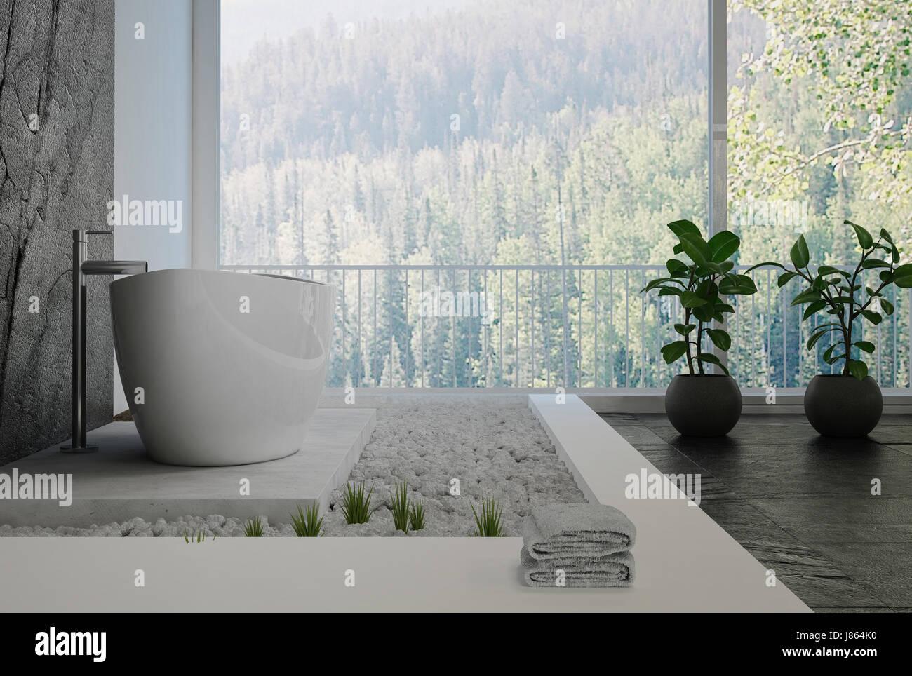 Carrelage En Galets Salle De Bain salle de bains design intérieur élégant avec un décor de