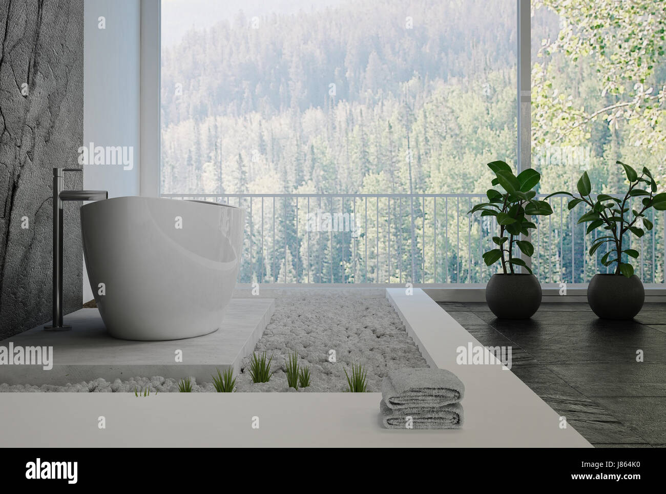 Salle De Bains Design Interieur Elegant Avec Un Decor De