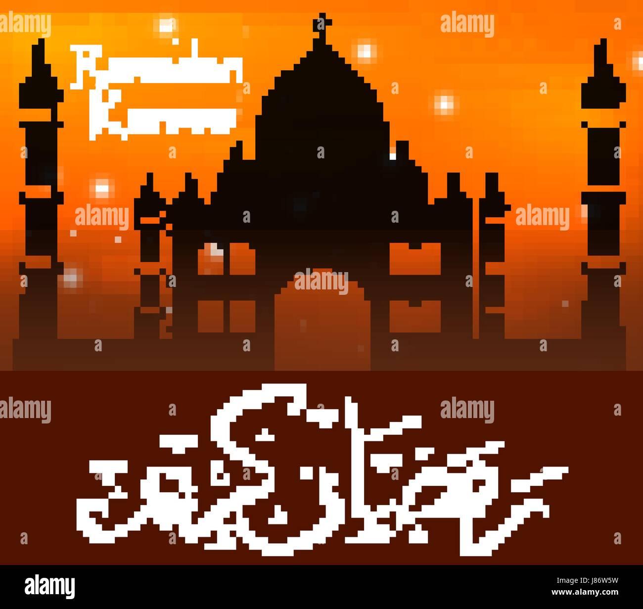 Ramadan Kareem Carte De Souhaits Avec Des Lanternes Modele Pour L