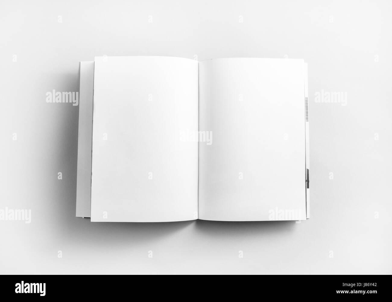 Ouvert Vierge Livre Brochure Ou Magazine Sur Le Papier De