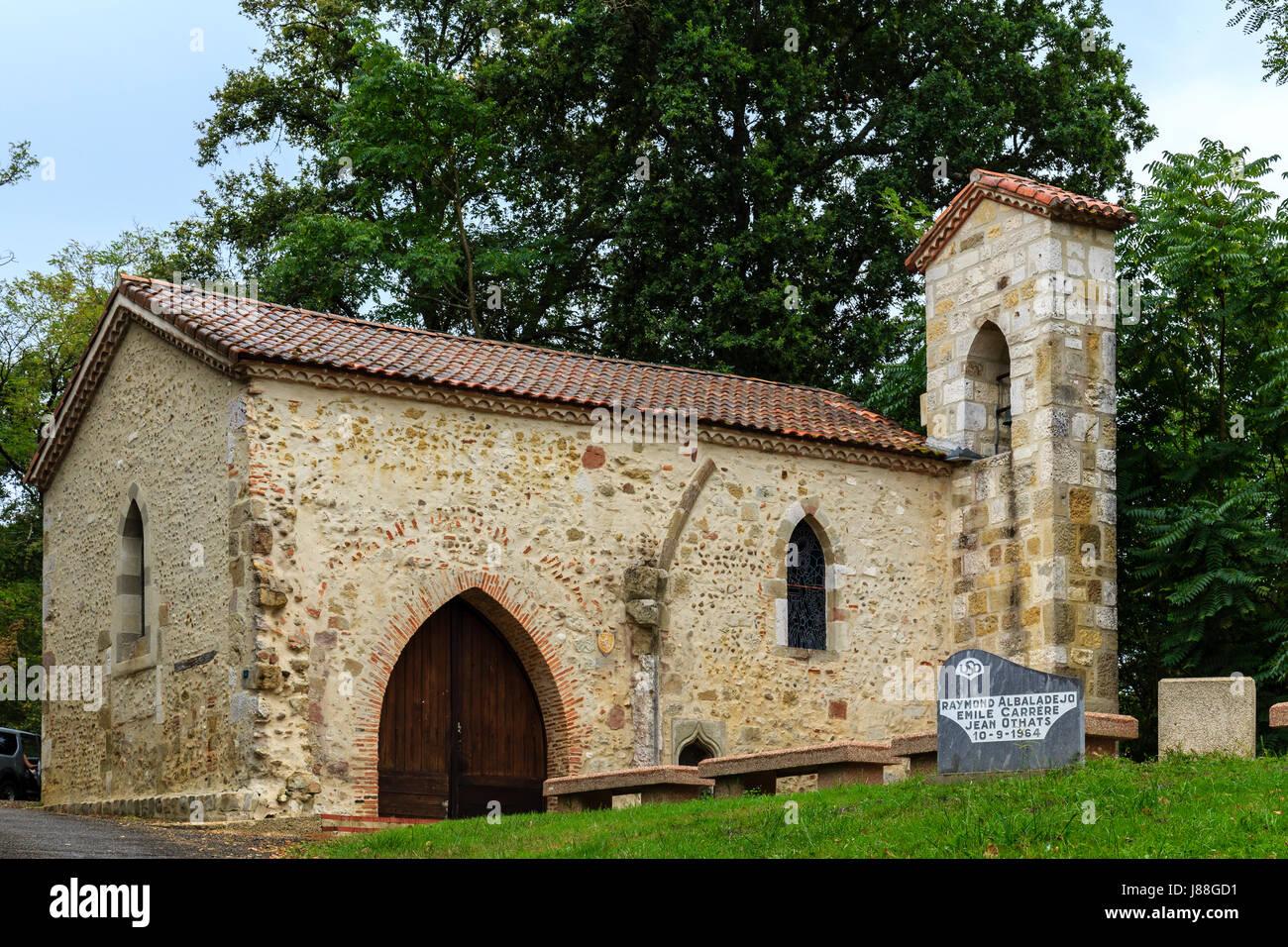 France, Landes (44), larrivière-saint-savin, chapelle notre-dame-du-rugby // France, landes, larriviere-saint Photo Stock