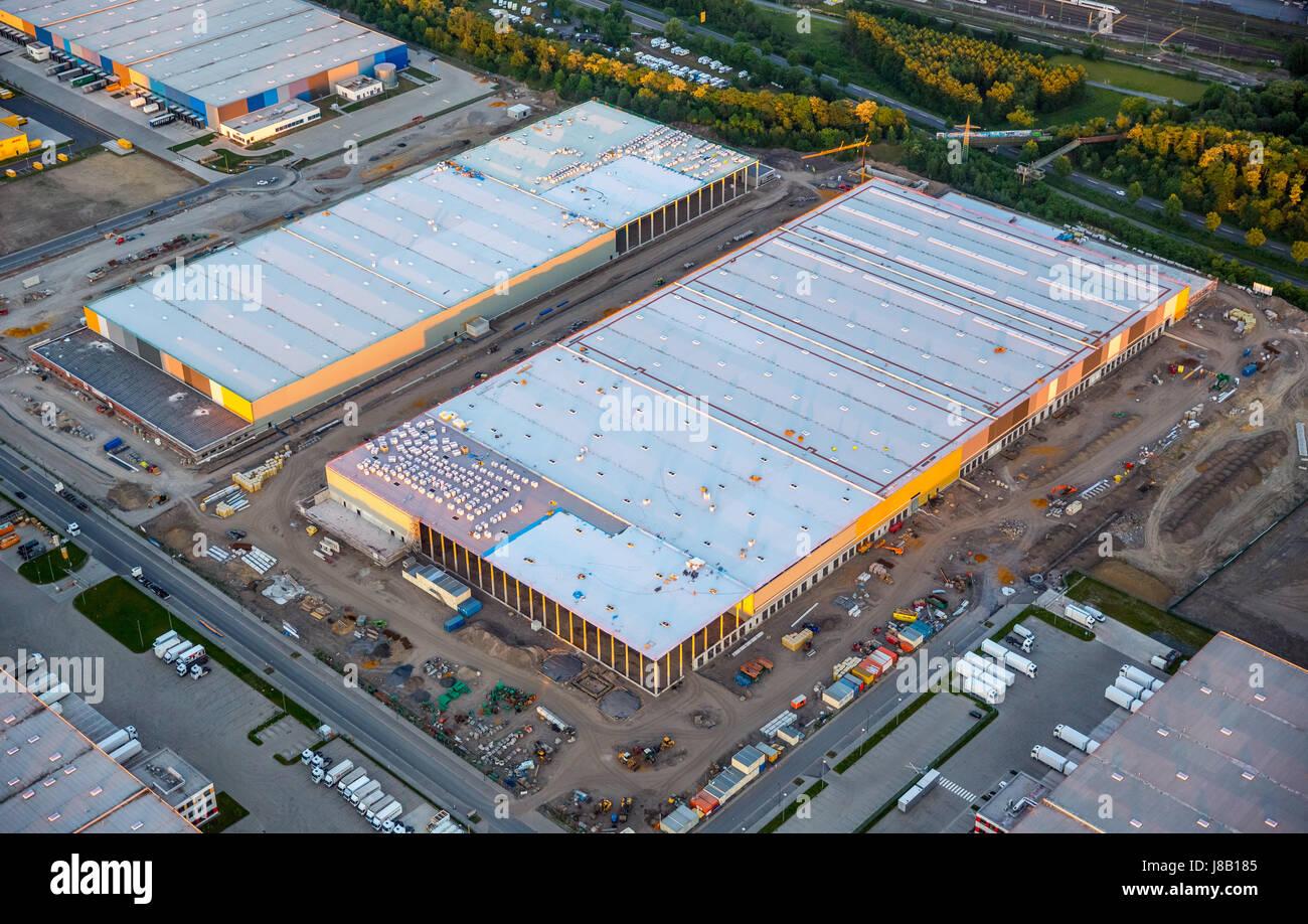La logistique d'Amazon, nouveau bâtiment sur le site d'Westfalenhütte, internet, commerce, entrepôt Photo Stock