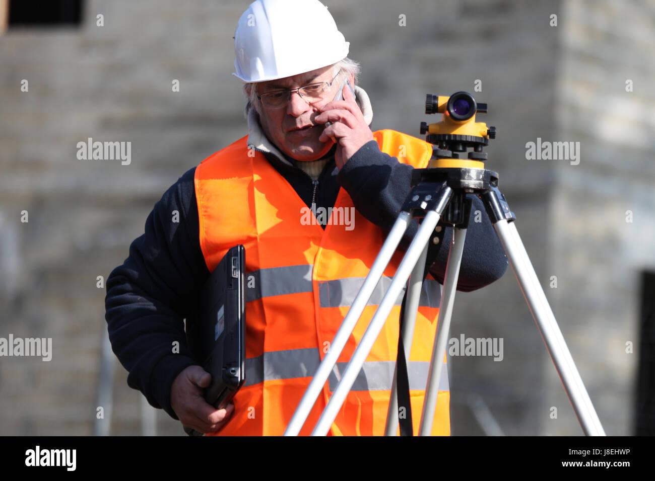 La précision, la cartographie, fournisseur, entrepreneur, constructeur, construction, l'objectif, Photo Stock