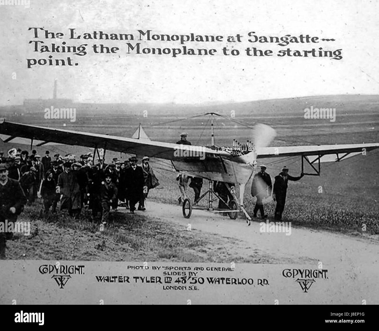Latham dans Antoinette IV en route vers Cap Blanc Nez pour sa première tentative de canal Banque D'Images