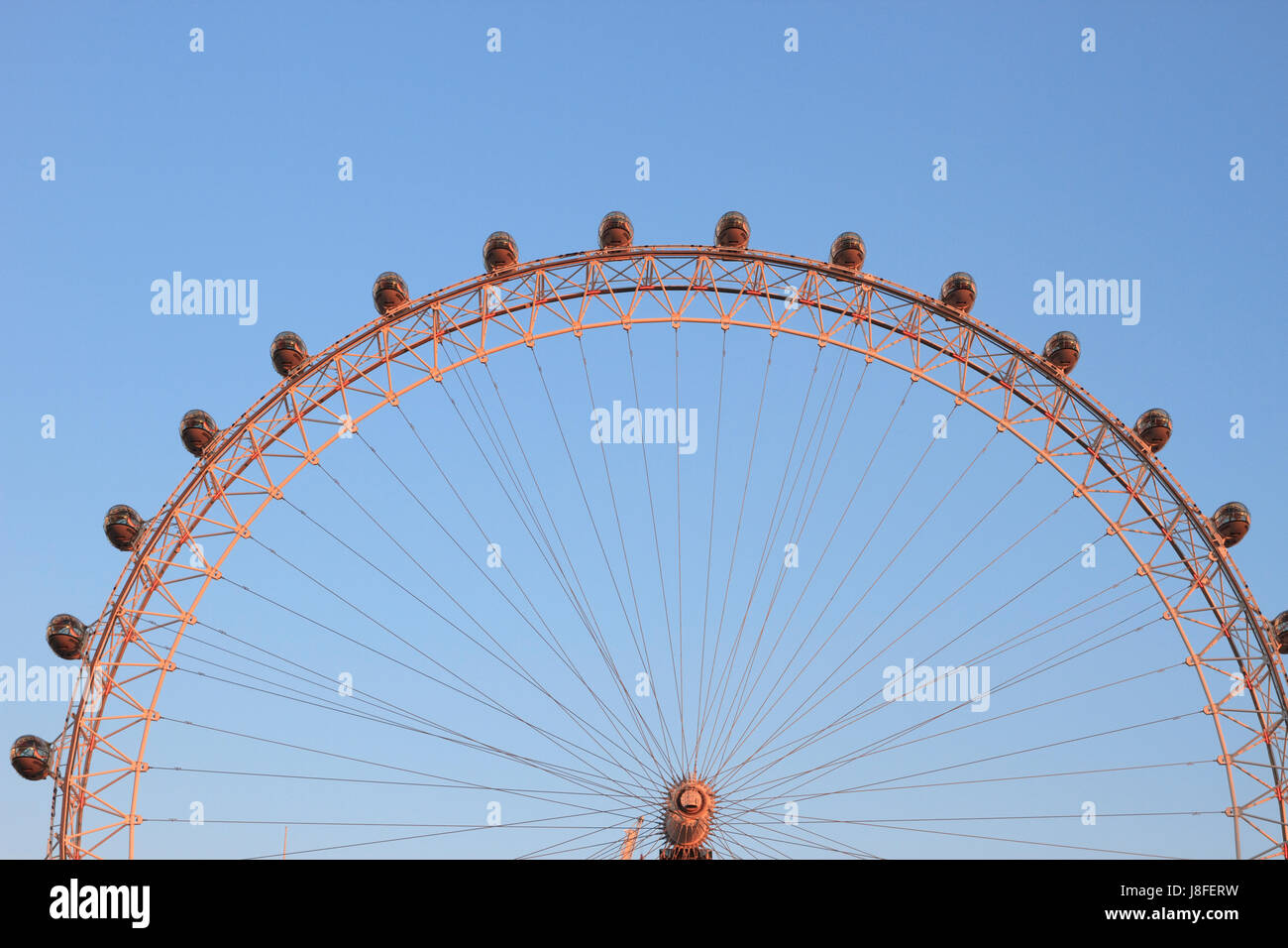 La grande roue London Eye (détail), Londres, Angleterre. Photo Stock