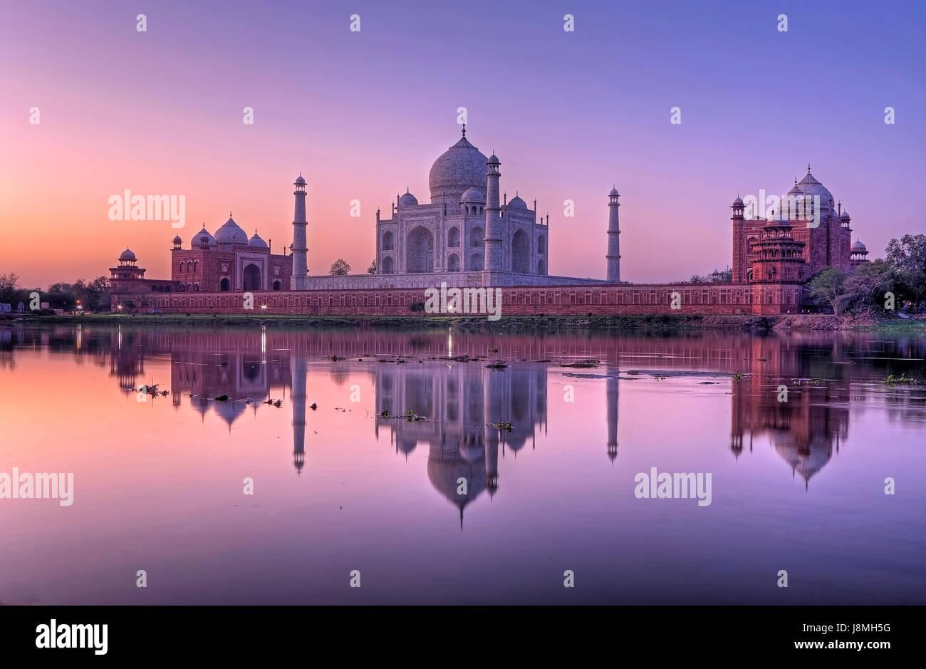 Taj Mahal, Agra, Uttar Pradesh, Inde. Photo Stock