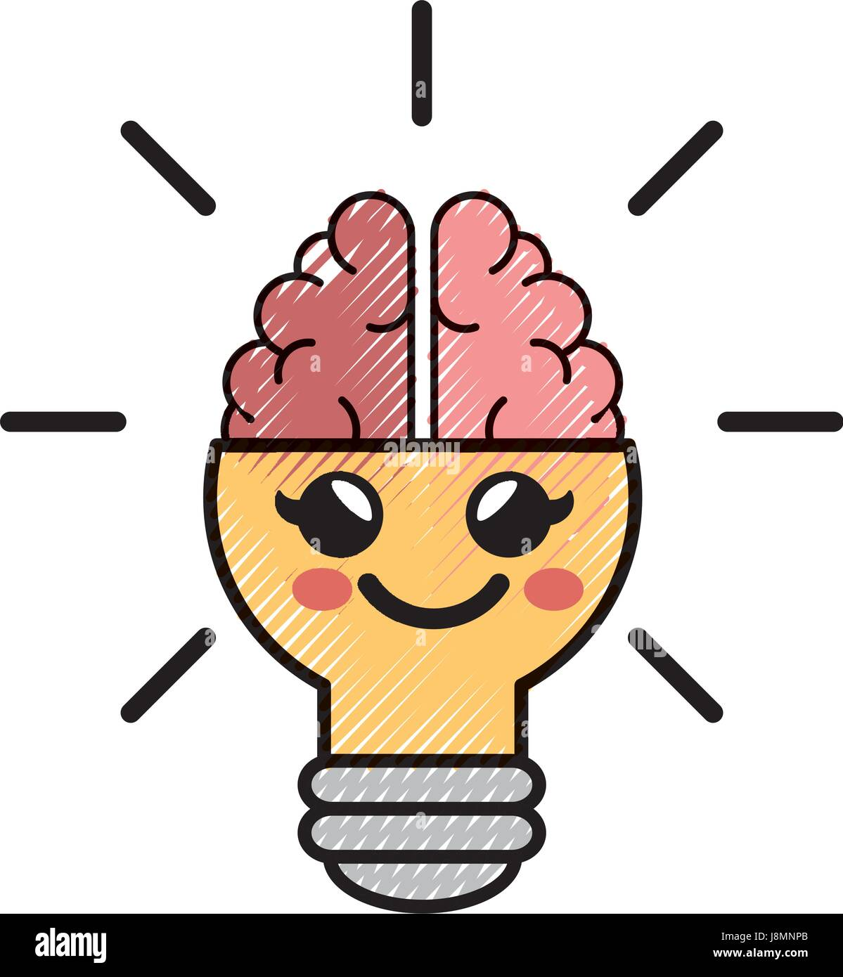 Ampoule Lumiere Idee Dessin Anime Image Vectorielle Stock Alamy