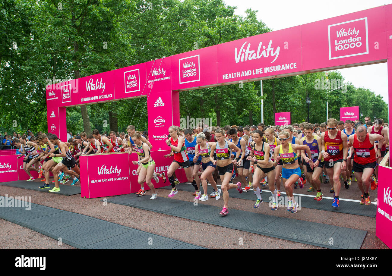 Vitalité London 10 000 m Photo Stock