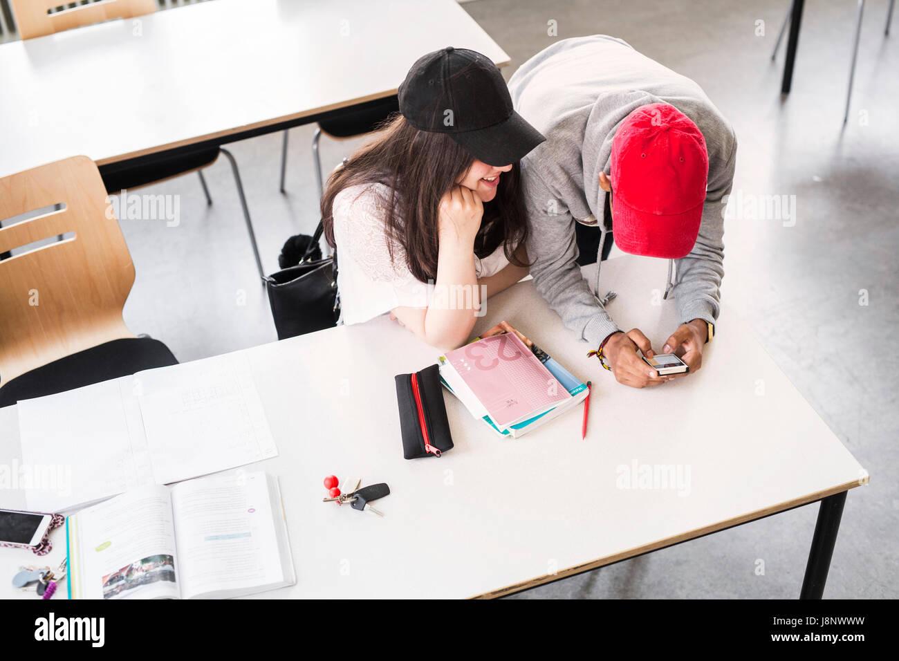 Étudiants (14-15) in classroom Banque D'Images