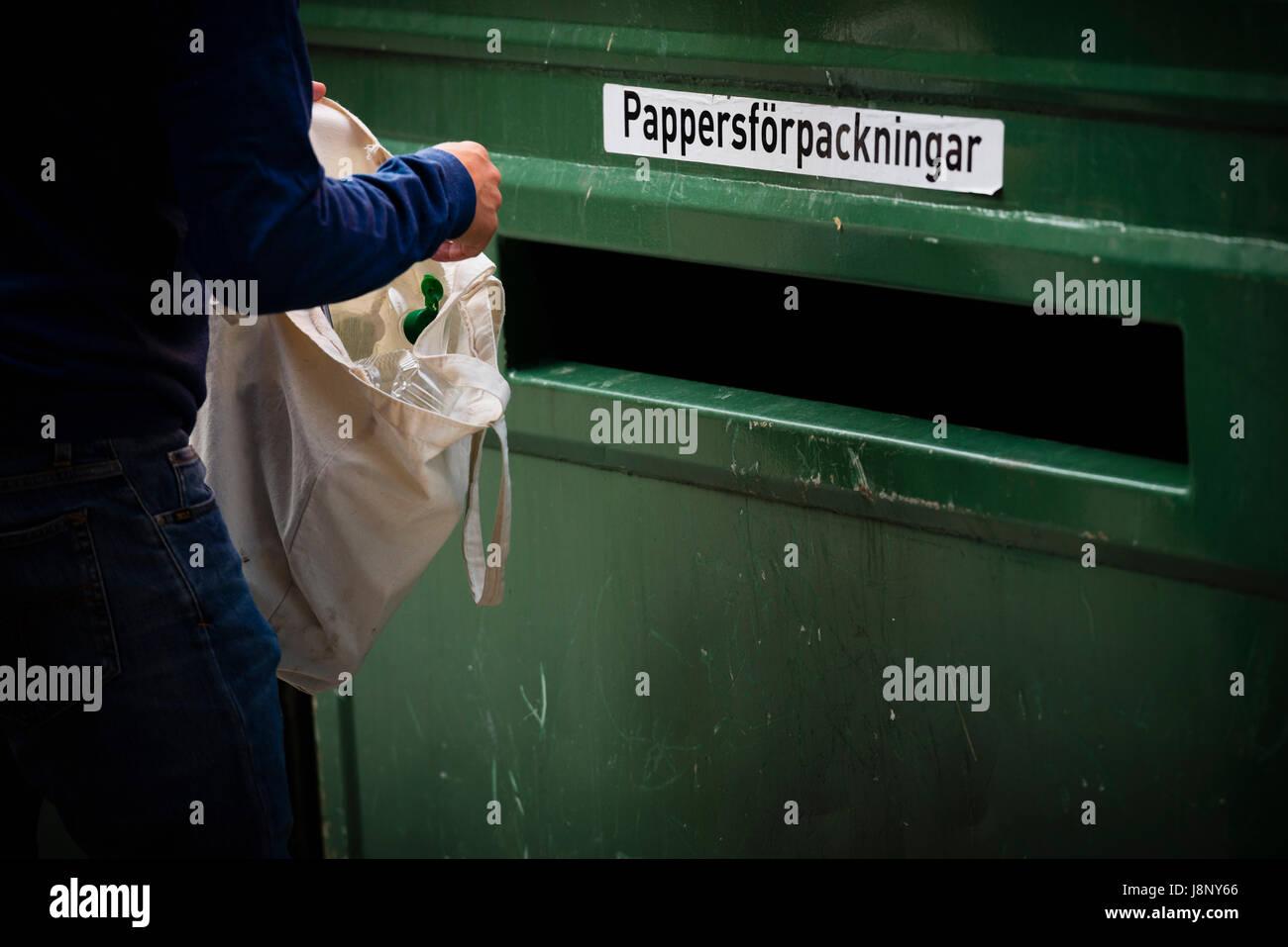 Personne jeter les ordures Banque D'Images