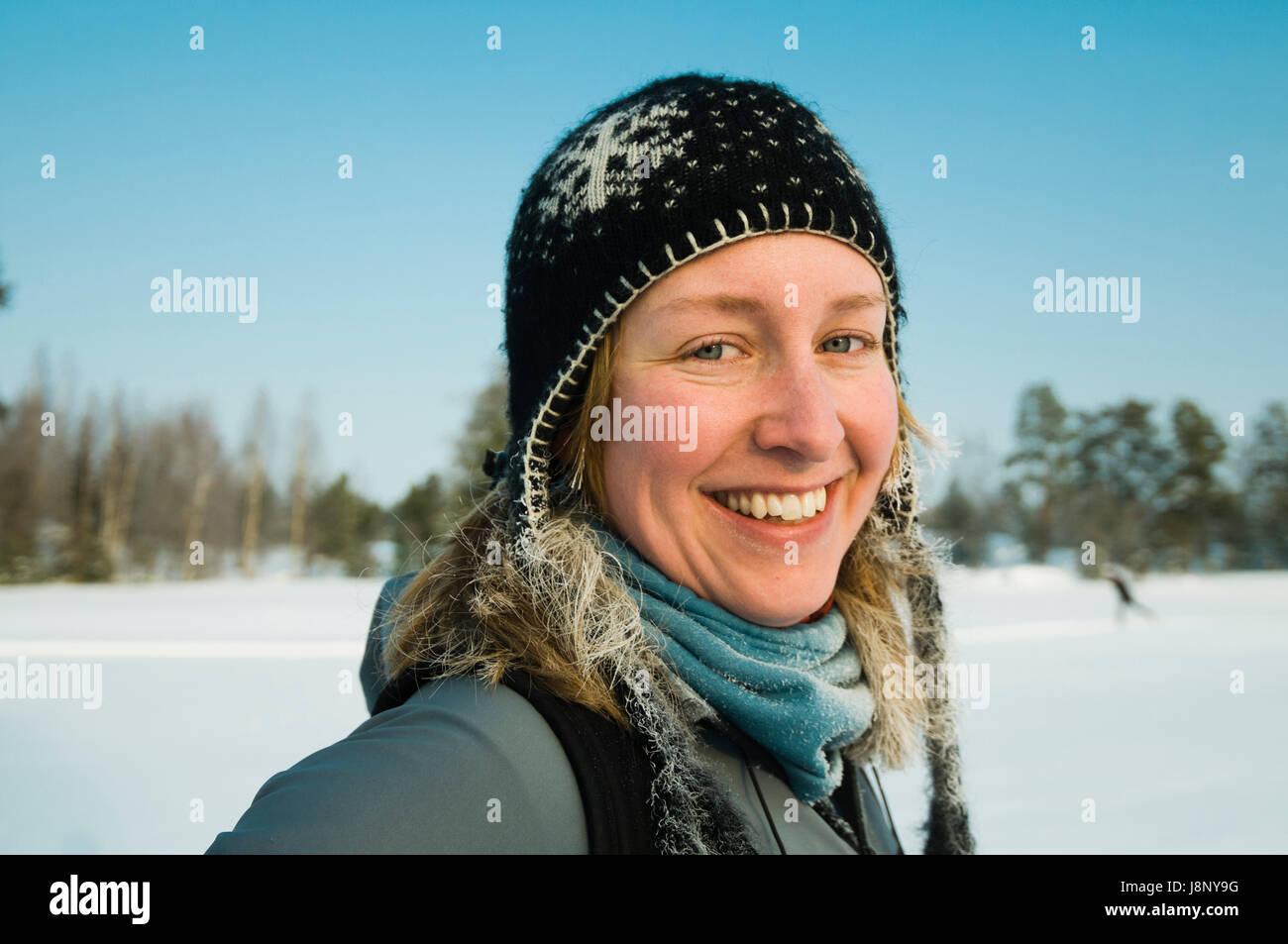 Portrait of smiling woman Banque D'Images
