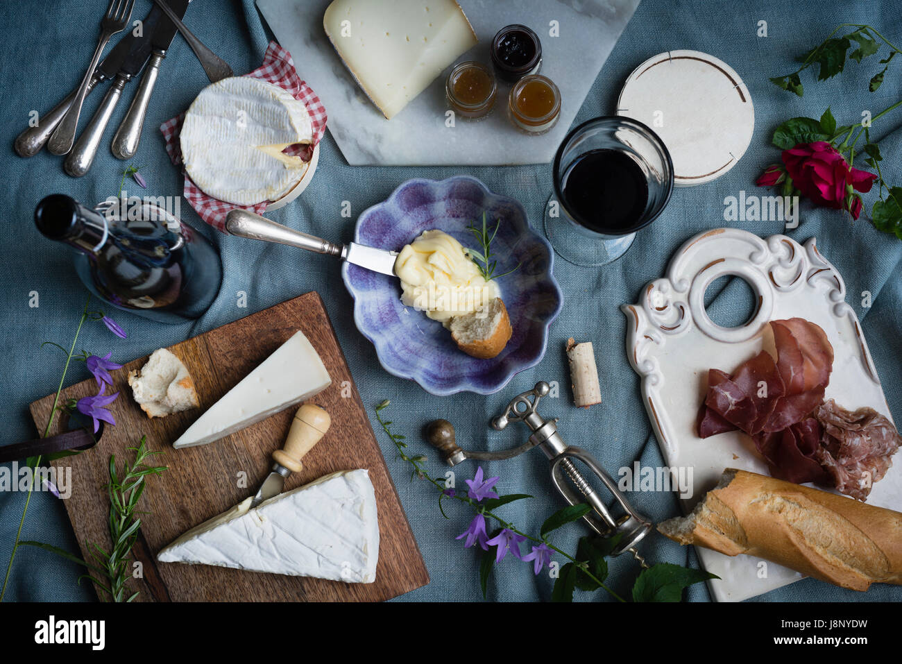 Nourriture sur la table Banque D'Images