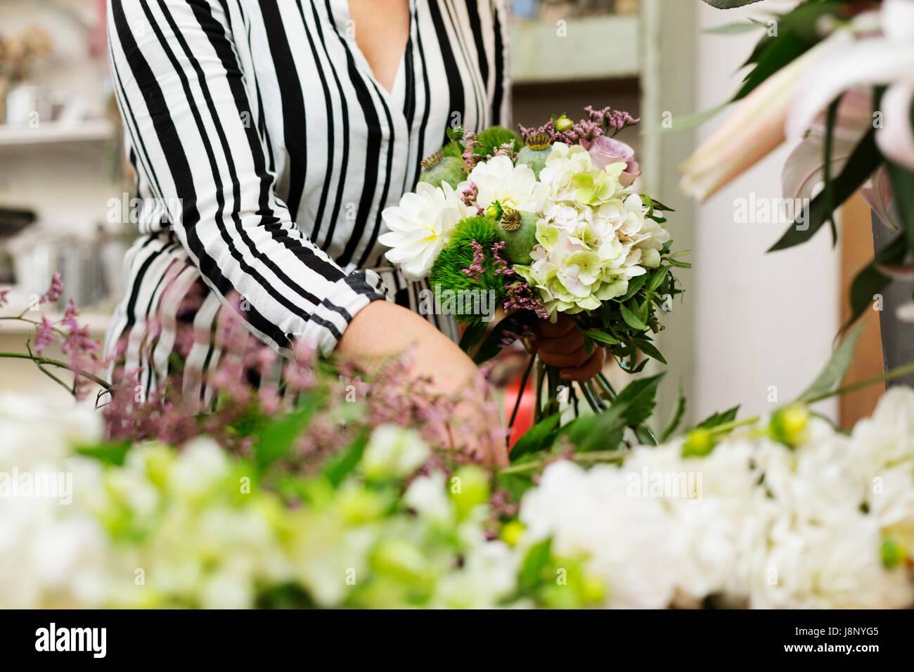 Bouquet de fleurs de Fleuriste Banque D'Images