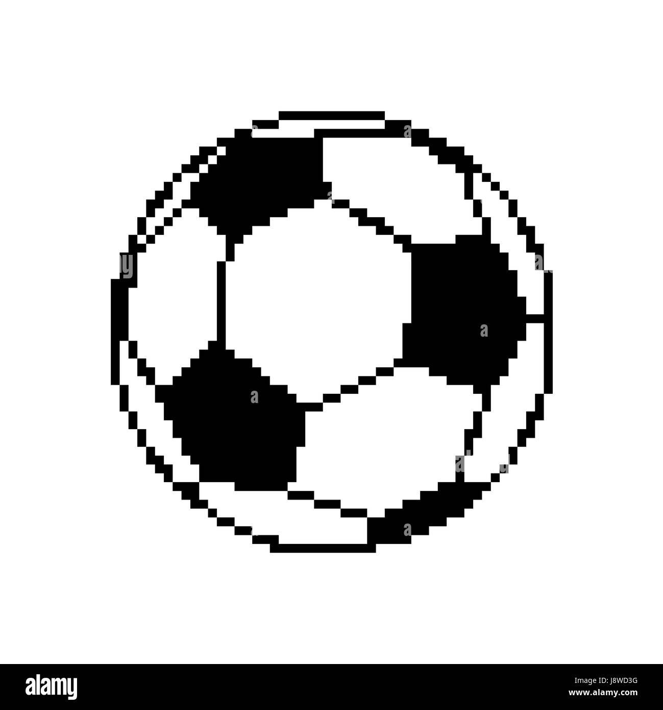 Ballon De Soccer Football Art Pixel Pixelisées Isolé Sur