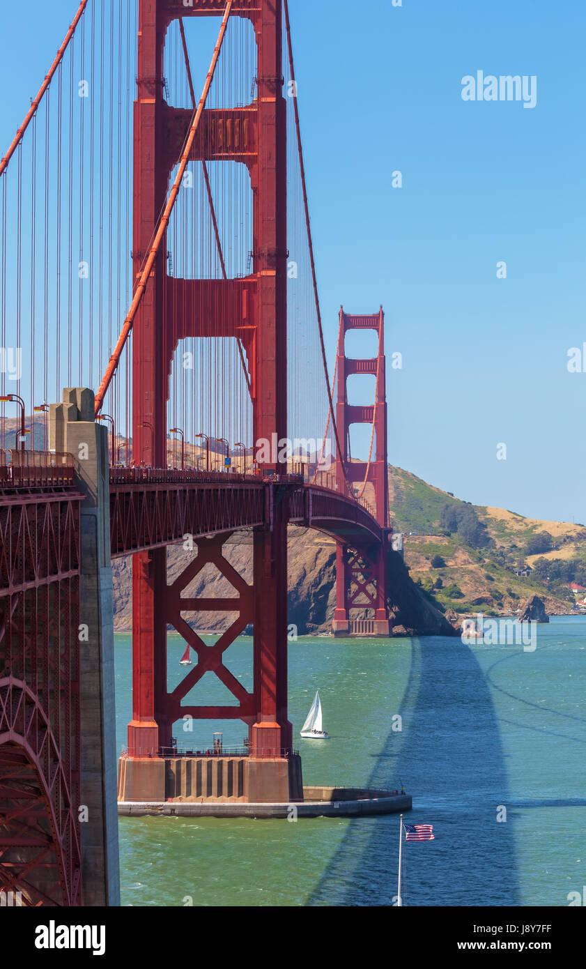 Le golden gate bridge à San Francisco, USA Photo Stock