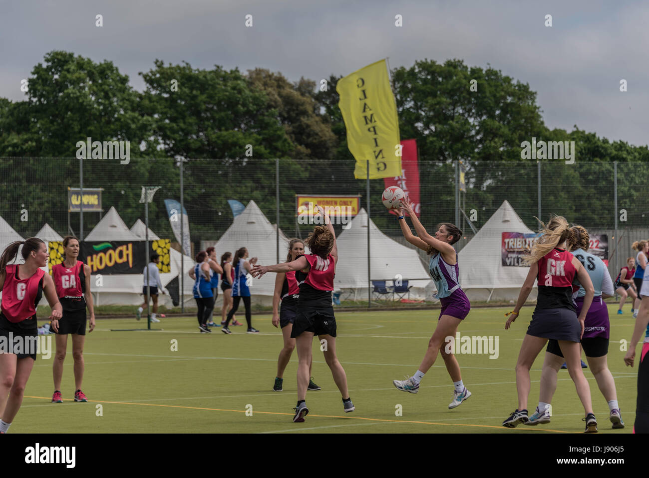 Bournemouth, Royaume-Uni. 28 mai 2017. Festival annuel de musique et de sport rugby, attirer le netball, le hockey Photo Stock