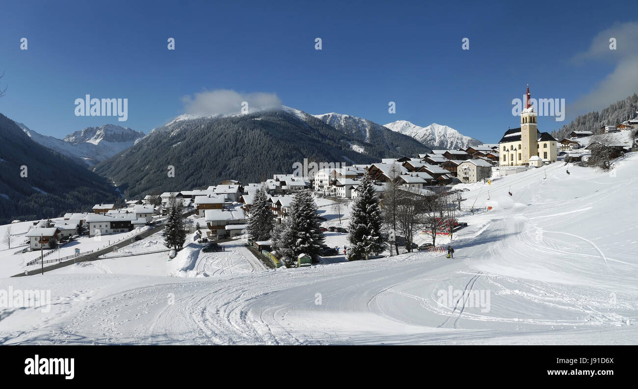 Obertilliach Banque D'Images