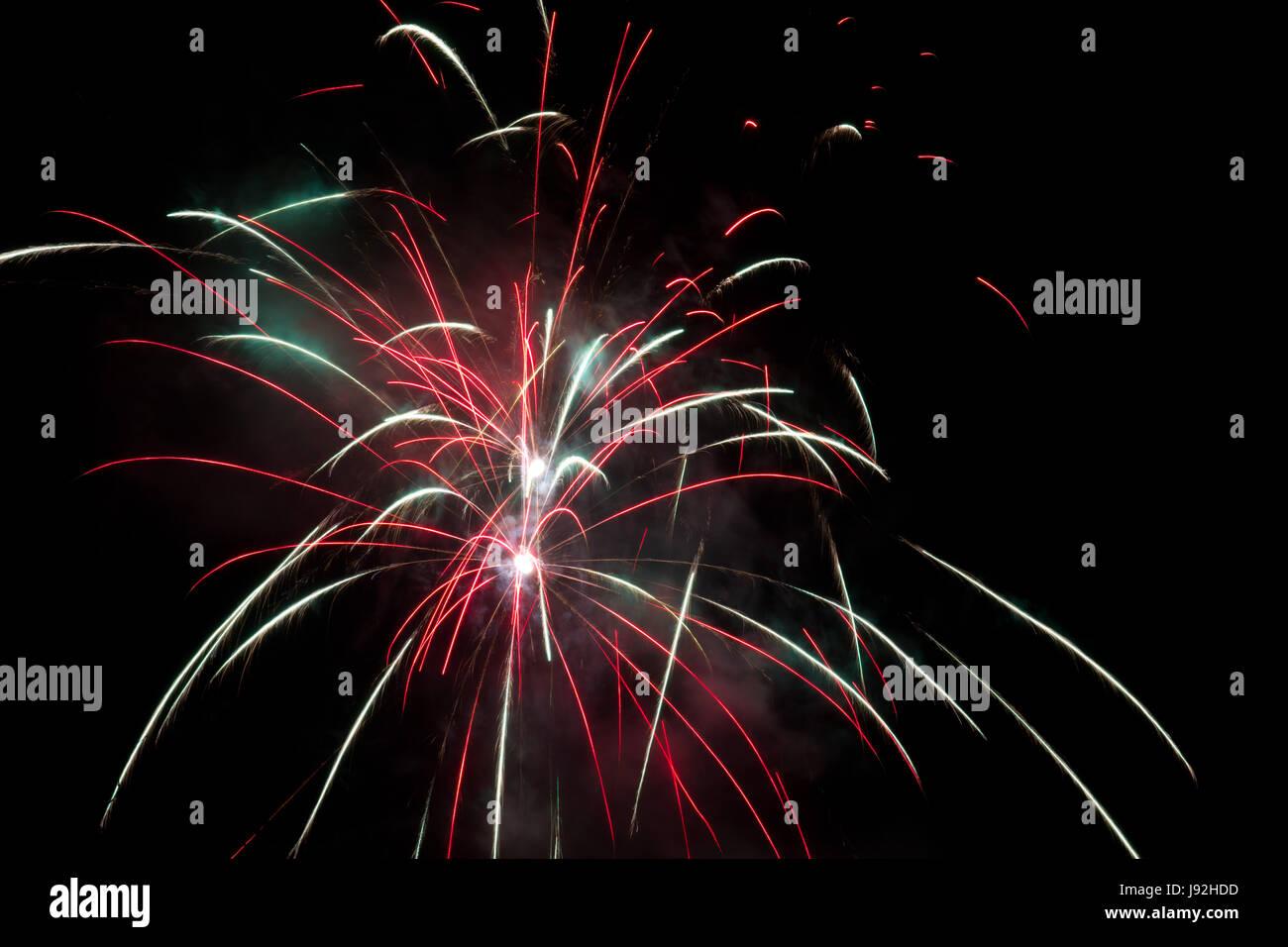 La durée de l'exposition, Silvester, Nouvel An, nouvelle année, rocket, a bientôt, Banque D'Images