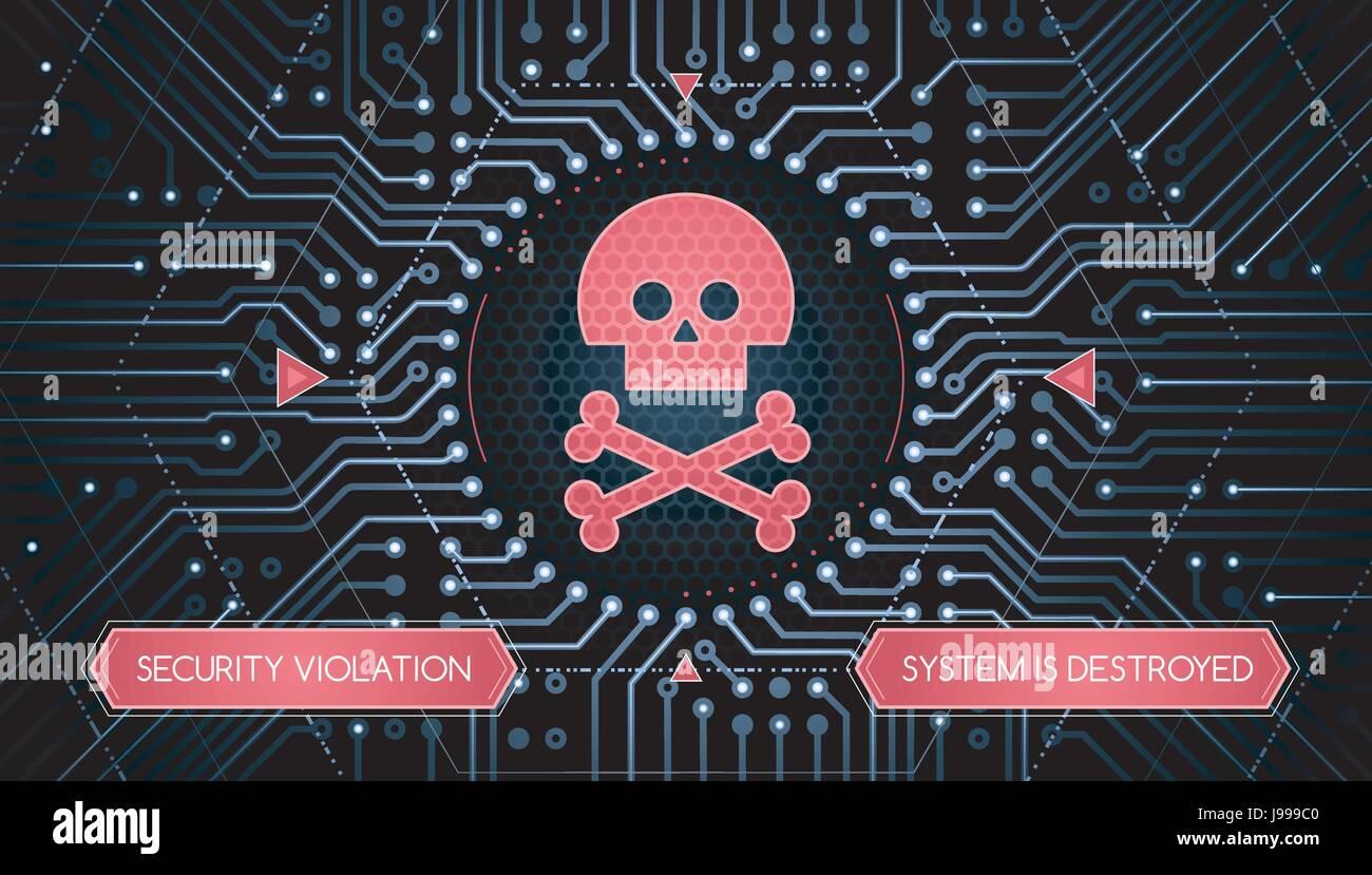 Violation de sécurité - Infographical Concept Photo Stock