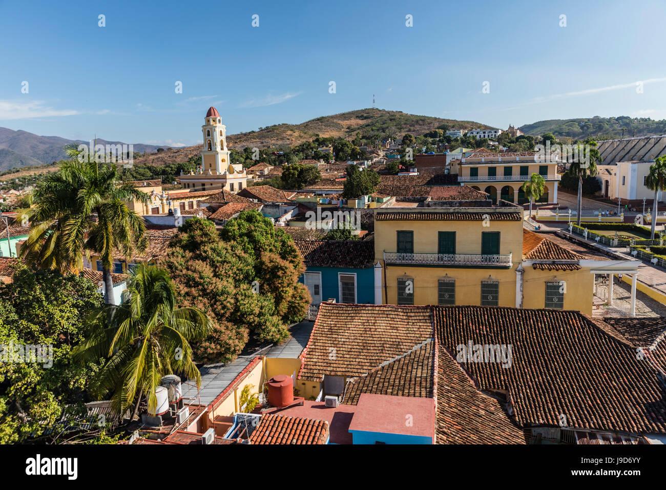 Le Convento de San Francisco et Plaza Mayor, Trinidad, Site du patrimoine mondial de l'UNESCO, Cuba, Antilles, Caraïbes Banque D'Images
