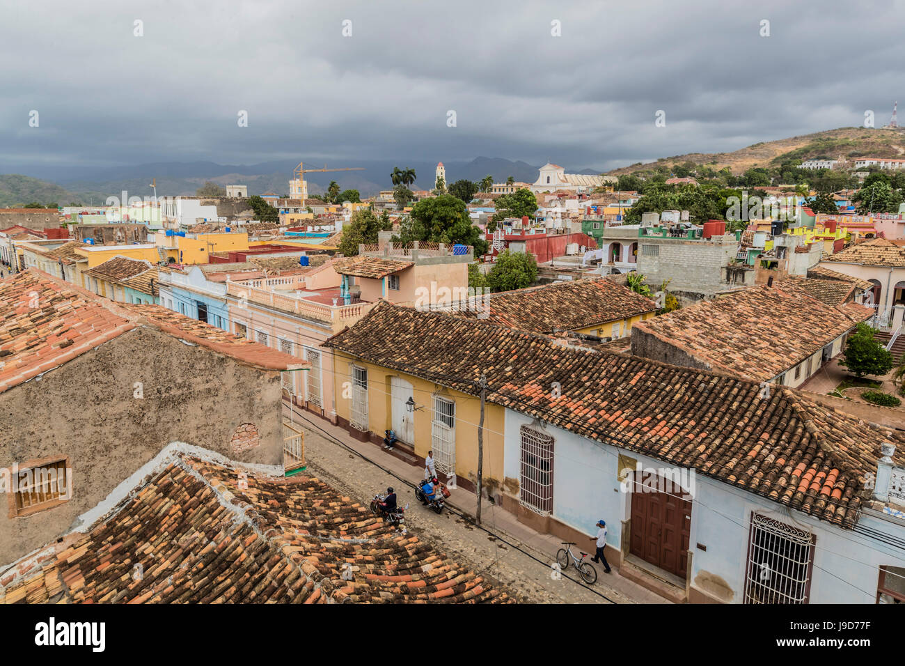 Une vue de la Plaza Mayor, Trinidad, Site du patrimoine mondial de l'UNESCO, Cuba, Antilles, Caraïbes, Photo Stock