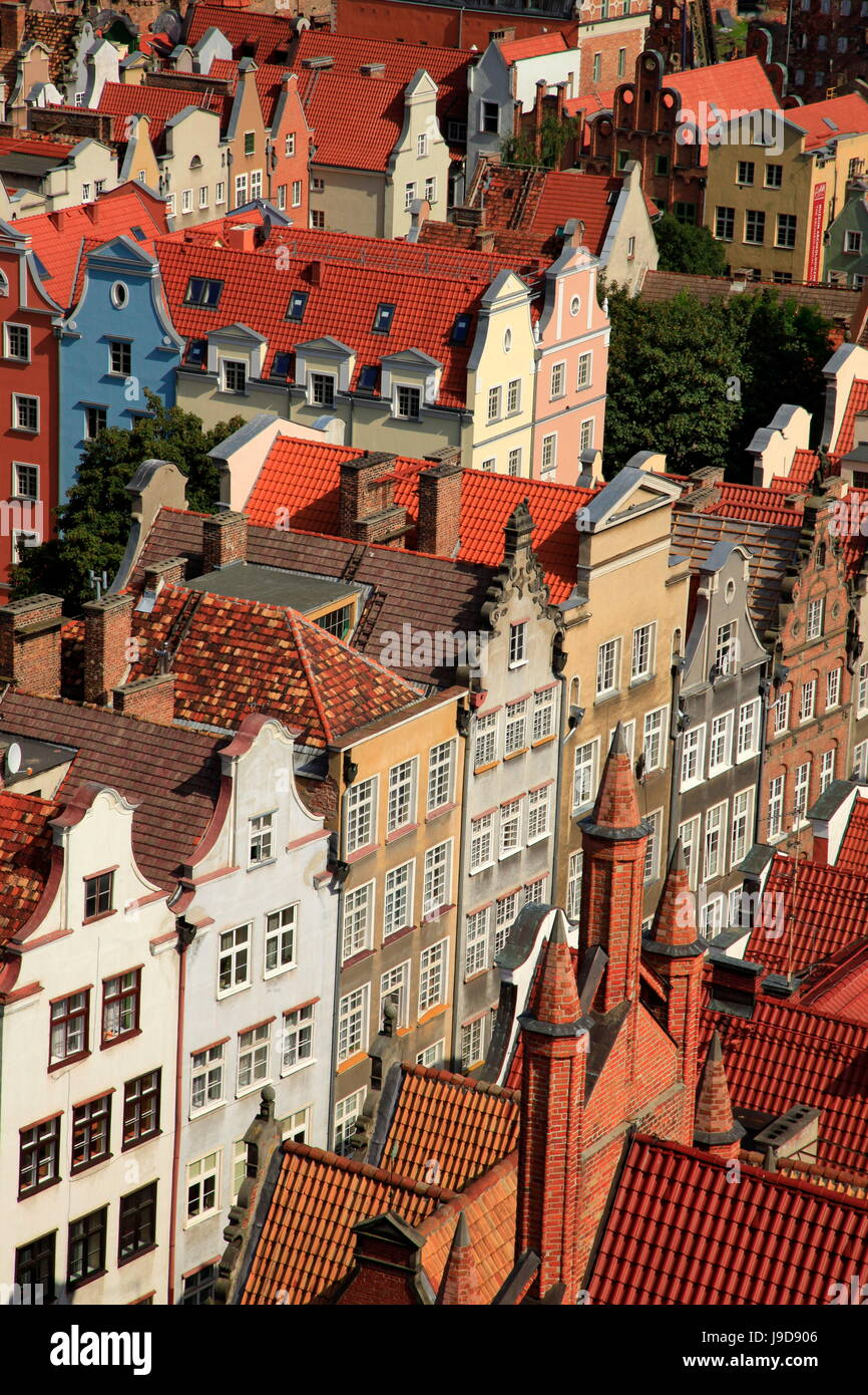 Vieille ville de Gdansk, Gdansk, Pologne, l'Europe occidentale, Photo Stock