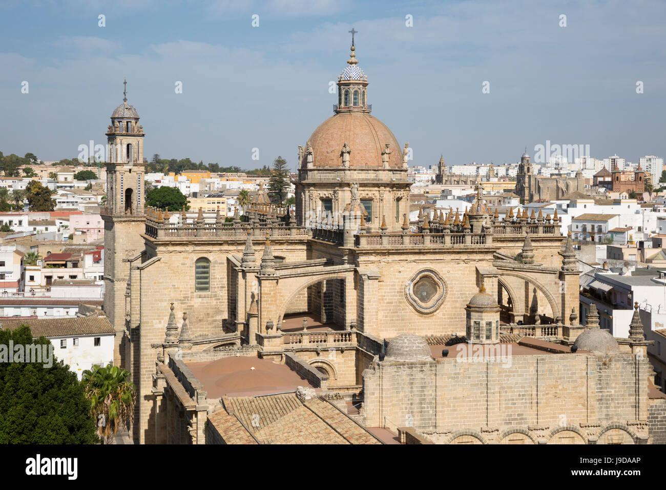 Cathédrale de Jerez de la Frontera, Jerez de la Frontera, province de Cadiz, Andalousie, Espagne, Europe Banque D'Images