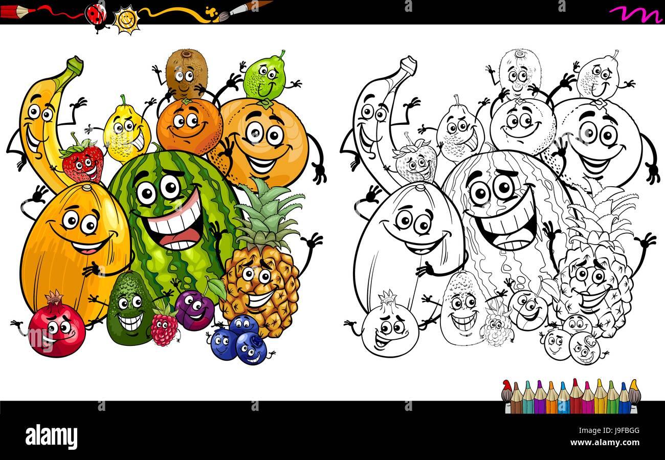 Coloriage Kiwi Fruit.Kiwi Fruit Illustration Coloring Book Photos Kiwi Fruit