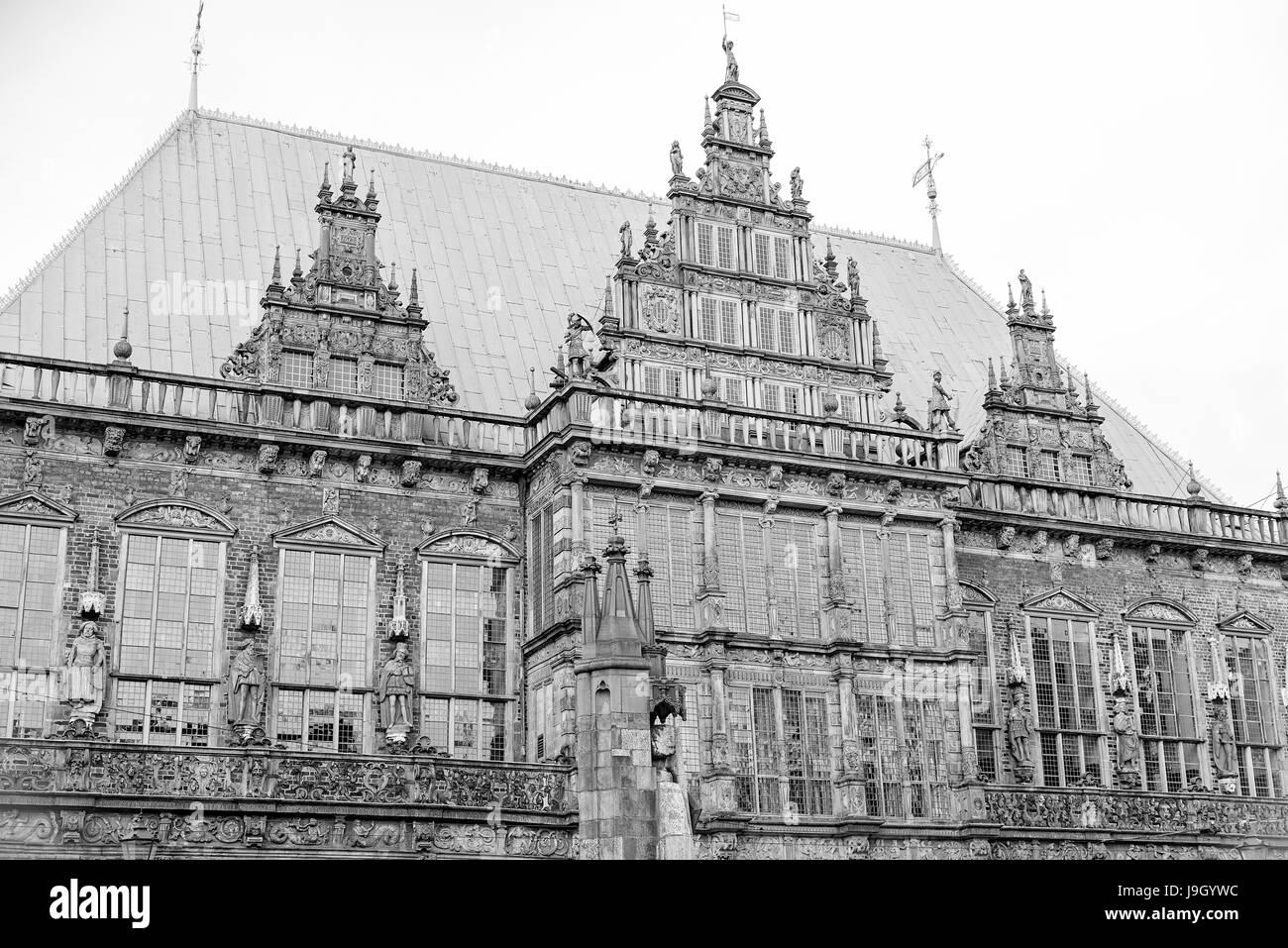 Hôtel de ville de Brême Banque D'Images