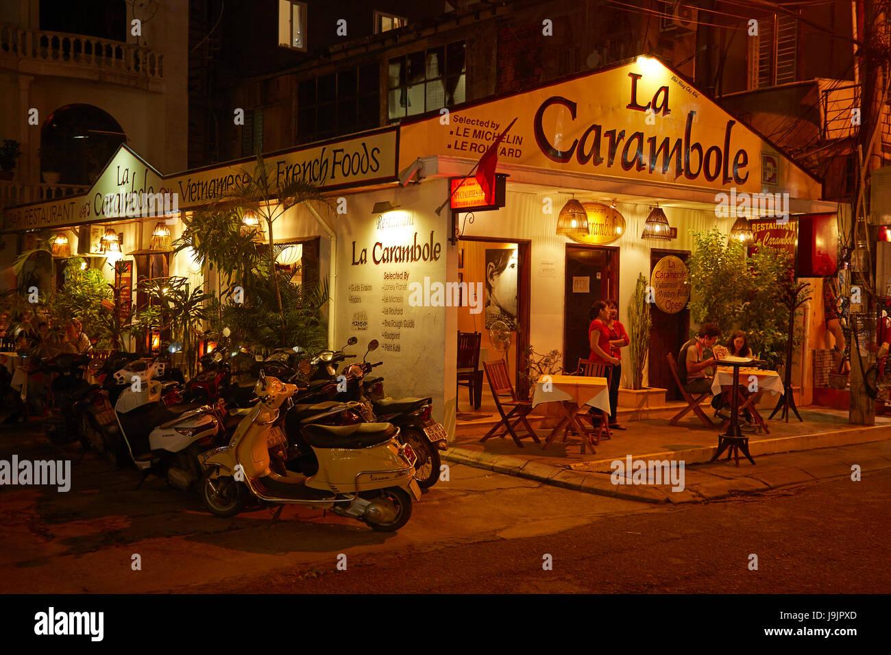 Restaurant La carambole, la teinte, la côte centrale du nord du Vietnam, Photo Stock