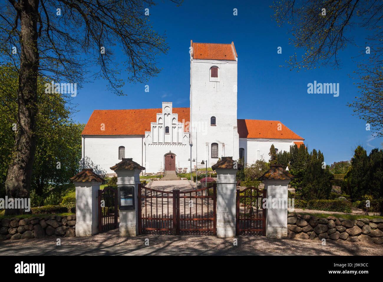 Le Danemark, Langeland, humble, humble village church Photo Stock
