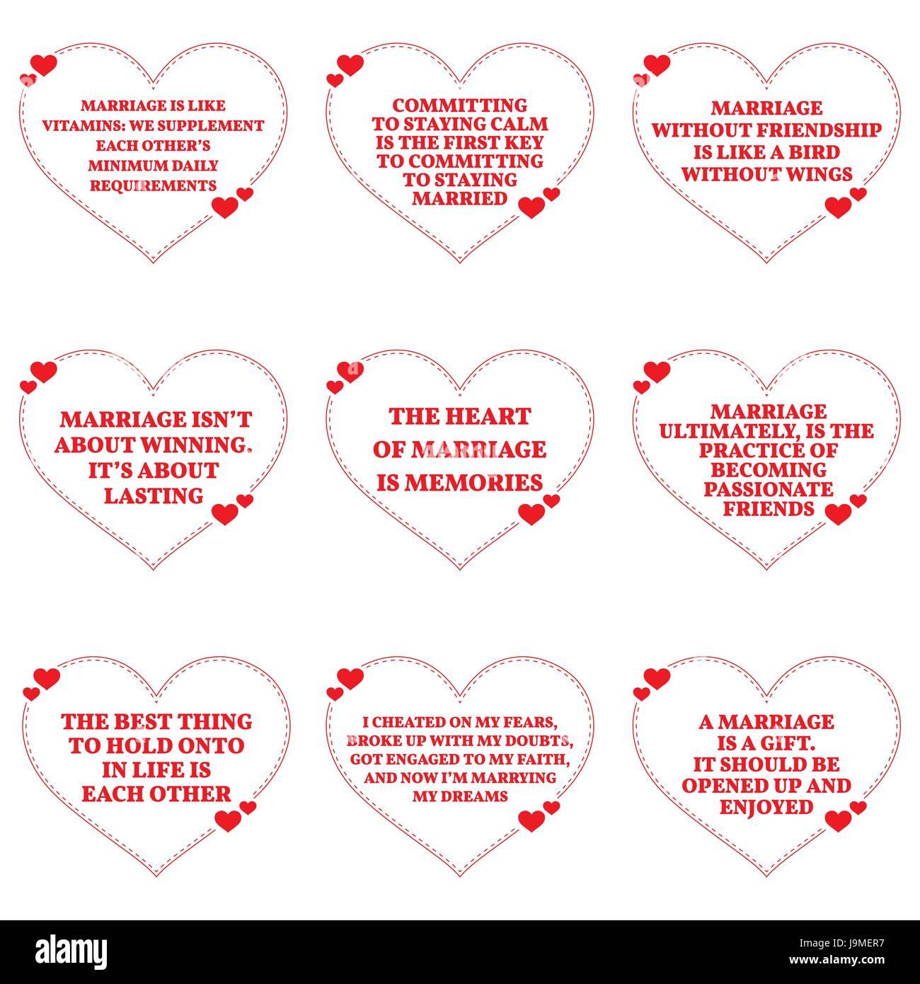 Ensemble De Citations Sur L Amour Et Le Mariage Sur Fond Blanc