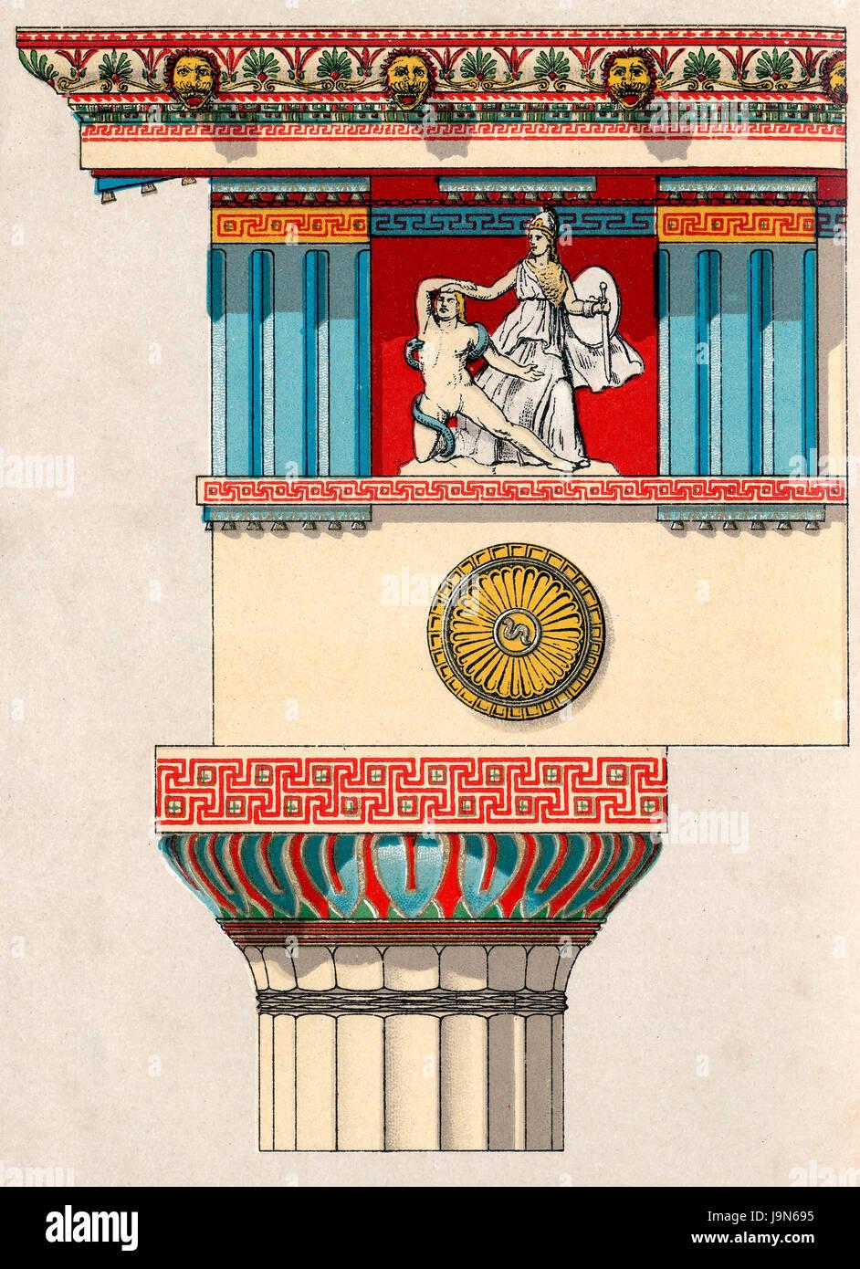 L'ancienne capitale grecque, ordre dorique Photo Stock