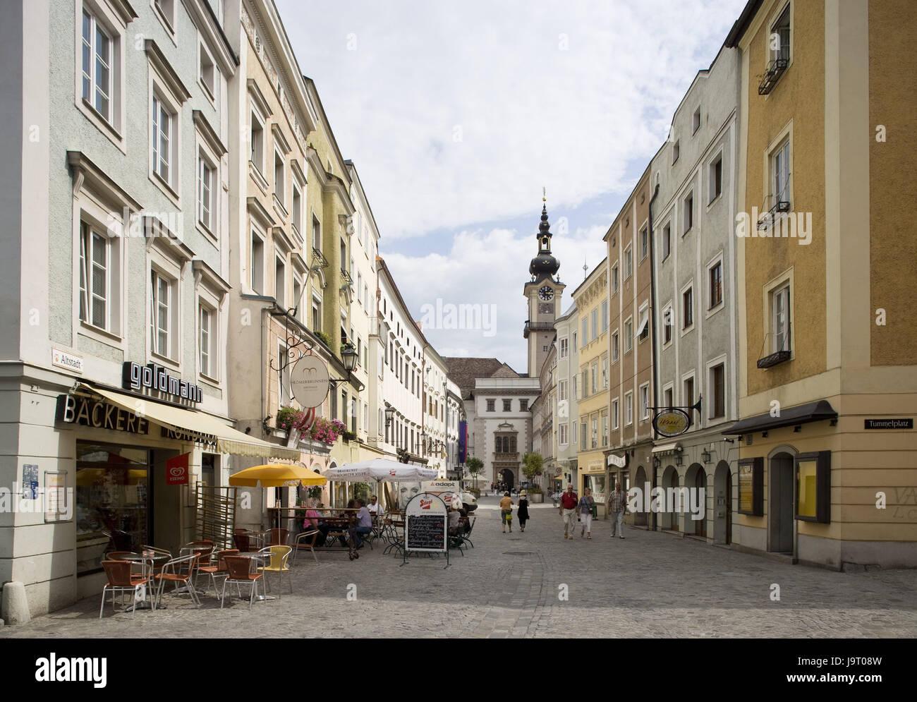 L Autriche Haute Autriche Linz Vieille Ville Zone
