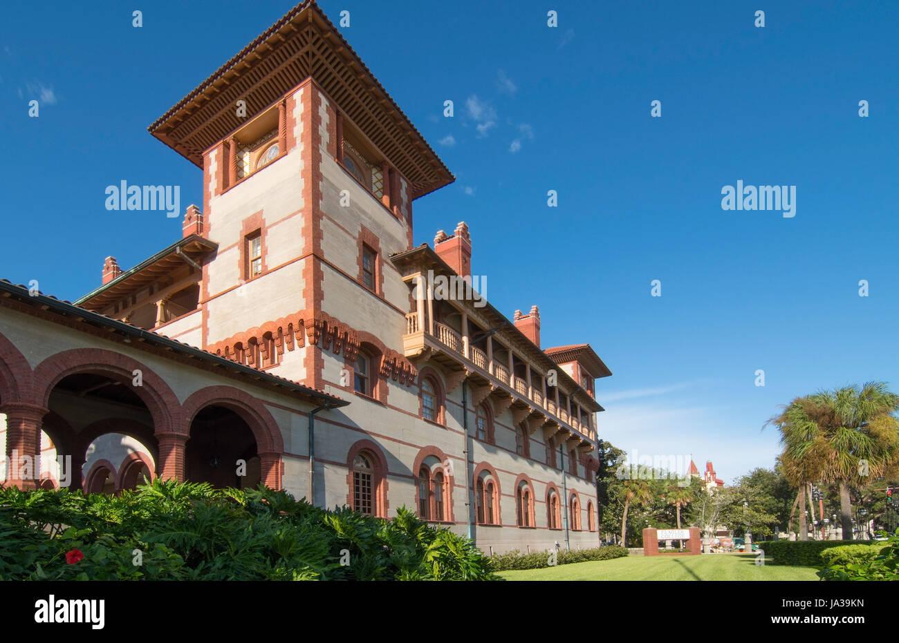 St Augustine en Floride Flagler College privé dans la ville la plus ancienne nation sur la rue King Banque D'Images