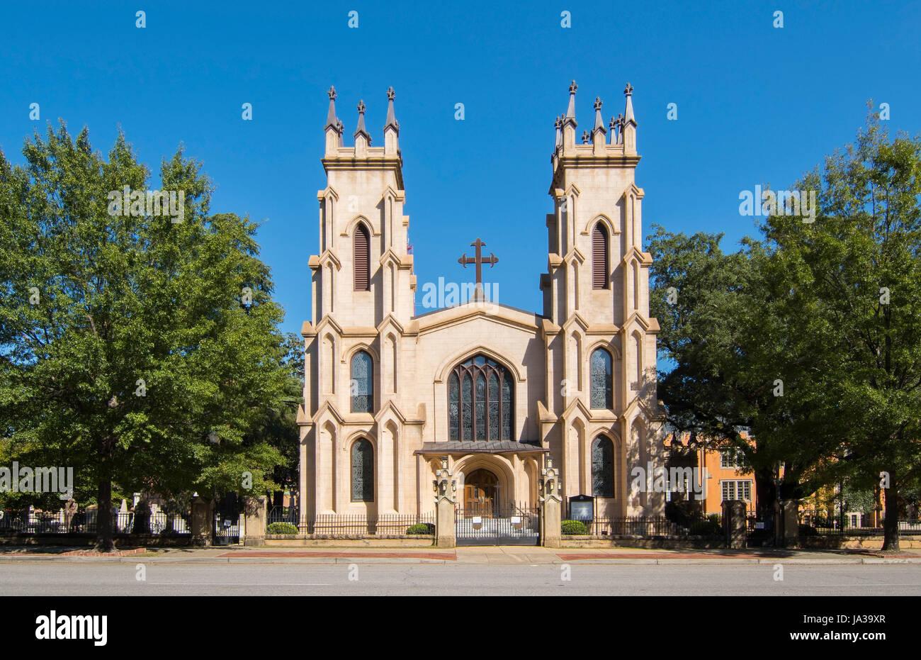 USA, Columbia en Caroline du Sud Trinity Episcopal Church 1812 au centre-ville sur la cathédrale de rue Sumter Banque D'Images