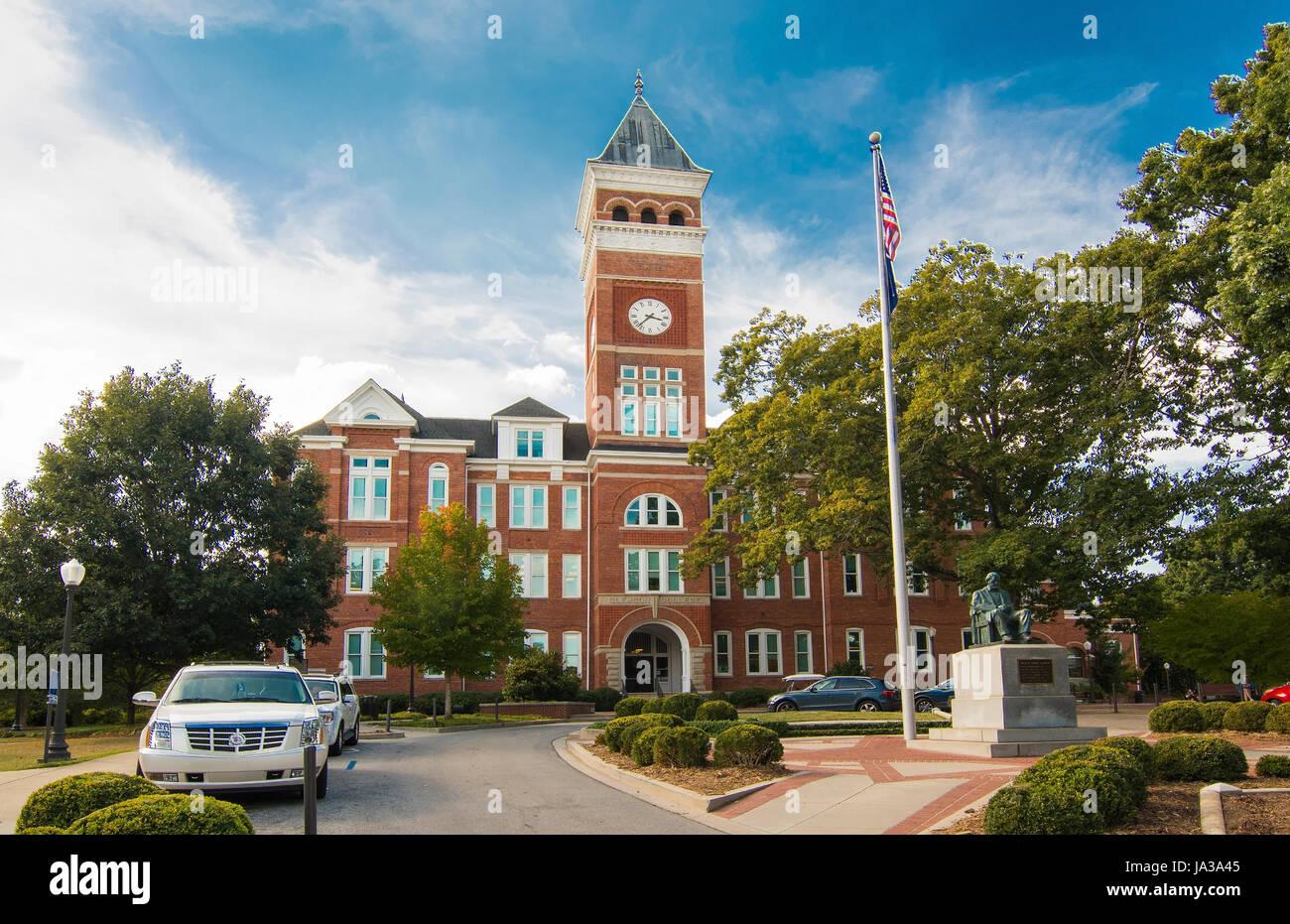 Clemson en Caroline du Sud college Tillman Hall à l'Université Clemson SEC Banque D'Images