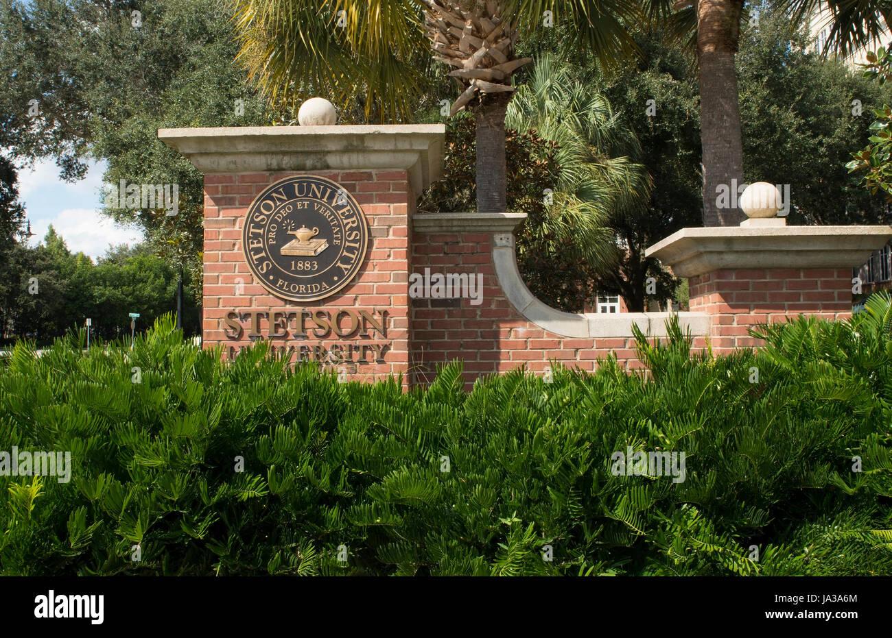 Deland Florida Stetson University college dans une petite ville de l'éducation, Banque D'Images