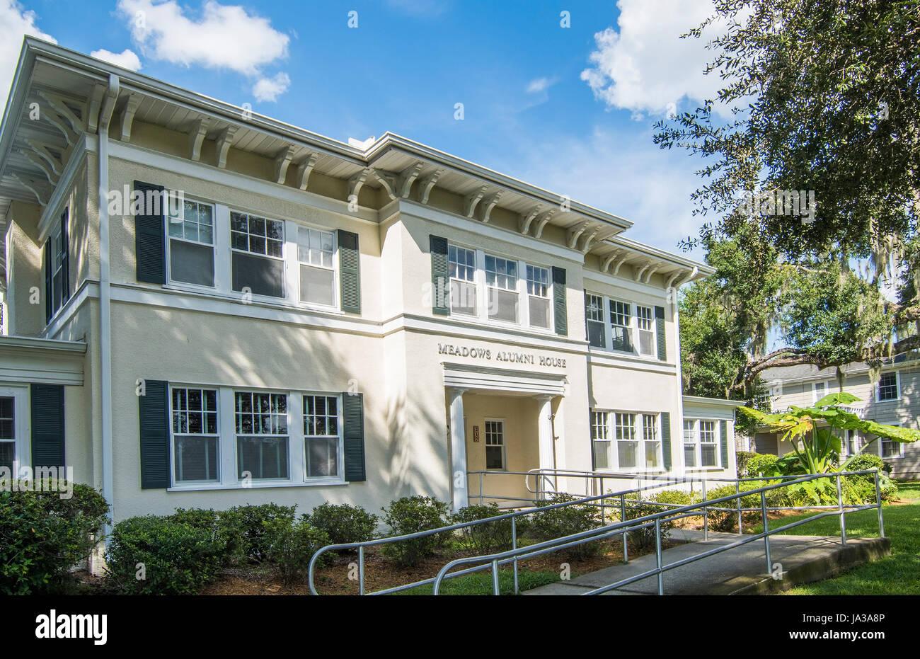 Deland Florida Stetson University College Alumni House petite ville prés de l'éducation, Banque D'Images